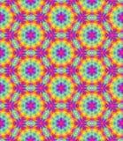 Il modello floreale multicolore astratto, il fondo variopinto di struttura delle mattonelle, arcobaleno ha colorato l'illustrazio Fotografia Stock Libera da Diritti