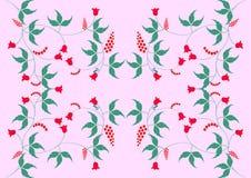 Il modello floreale su un fondo rosa Fotografia Stock Libera da Diritti