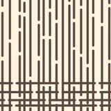 Il modello geometrico astratto con marrone scuro ha arrotondato le linee punteggiate su fondo giallo-chiaro Vettore illustrazione vettoriale