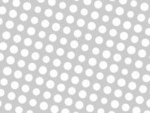 Il modello geometrico astratto del cerchio bianco punteggia in varie dimensioni su fondo grigio Progettazione alla moda moderna d Fotografia Stock Libera da Diritti