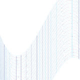 Il modello geometrico delle linee blu La distorsione di spazio illustrazione vettoriale