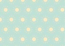 Il modello giallo-chiaro di Sun su colore pastello verde Fotografia Stock
