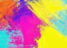 Il modello grafico del fondo multicolore astratto, la decorazione con gli autoadesivi del modello di arte e propria spazzola gli  illustrazione di stock
