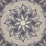Il modello ha dettagliato la progettazione per la carta, lo scialle o il tessuto royalty illustrazione gratis
