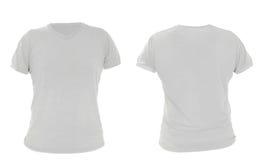 Il modello, il gray, la parte anteriore e la parte posteriore maschii della camicia progettano Immagine Stock