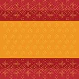Il modello indiano tradizionale del bandhej di Bandhani ha punteggiato il fondo arancio rosso di progettazione royalty illustrazione gratis