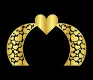 Il modello islamico del portone dell'arco di nozze del laser per il taglio dal vinile la decorazione è un modello openwork stili illustrazione vettoriale