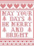 Il modello maggio di Natale i vostri giorni è modello senza cuciture allegro e luminoso ispirato entro l'inverno festivo della cu illustrazione vettoriale