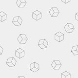 Il modello minimalistic monocromatico semplice senza cuciture geometrico del cubo modella fotografia stock libera da diritti