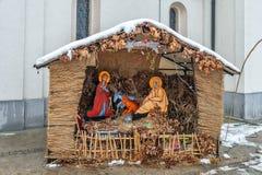 Il modello nasceva di Jesus Christ davanti alla chiesa ortodossa immagine stock libera da diritti