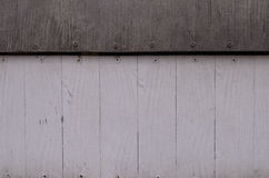 Il modello pallido o la struttura ed il chiodo di legno bianchi e neri si dirigono immagine stock libera da diritti