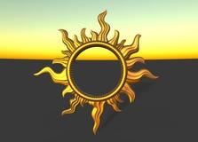 Il modello per l'espressione, logo, emblema, affare, talismano, previsione, futuro, 3d modelli, ispirazione, decorazione, lavoro, royalty illustrazione gratis