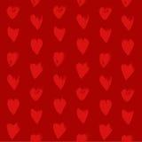 Il modello rosso senza cuciture da cuore strutturato rosso modella le sbavature Fotografia Stock Libera da Diritti