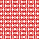 Il modello rosso senza cuciture del argyle, fondo del argyle, vector la carta digitale Immagine Stock