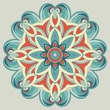 Il modello rotondo ornamentale è come la mandala Immagine Stock