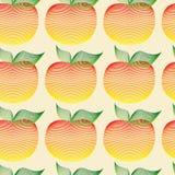 Il modello senza cuciture con il motivo delle mele può essere utilizzato in tessuti, per progettazione del libro, fondo del sito  Fotografia Stock
