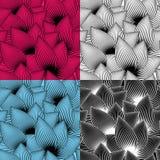 Il modello senza cuciture con l'estratto barra i petali decorati Fotografia Stock Libera da Diritti