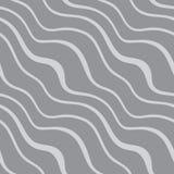 Il modello senza cuciture con la diagonale ondeggia su fondo grigio illustrazione vettoriale