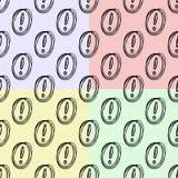 Il modello senza cuciture dei punti esclamativi ha colorato il fondo Illustrazione Editabile può essere usato per il fondo della  Fotografie Stock