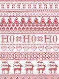 Il modello senza cuciture del canto natalizio di HO HO HO del modello di Natale ha ispirato entro l'inverno festivo della cultura illustrazione di stock