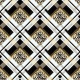 Il modello senza cuciture di lerciume scozzese del tartan con il leopardo macchia l'ENV 10 illustrazione di stock