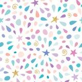 Il modello senza cuciture festivo con i coriandoli di scintillio, stars e spruzza Per la celebrazione di compleanno Vettore illustrazione vettoriale