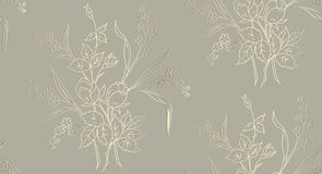 Il modello senza cuciture floreale può essere usato per la carta da parati, lo stampaggio di tessuti, carta illustrazione di vett illustrazione di stock