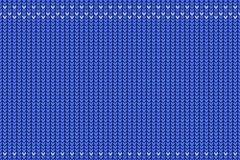 Il modello senza cuciture ha tricottato la struttura, ripetendo i colori blu e bianchi dell'ornamento Spazio vuoto per il vostro  illustrazione vettoriale