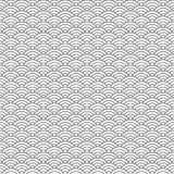 Il modello senza cuciture, mare geometrico astratto in bianco e nero ondeggia Immagine Stock