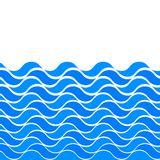 Il modello senza cuciture marino con il blu stilizzato ondeggia su un fondo leggero Arte di progettazione di vettore dell'estratt illustrazione di stock