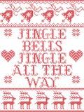 Il modello senza cuciture scandinavo di canzone di Natale delle campane di tintinnio delle campane di tintinnio ha ispirato dal m royalty illustrazione gratis