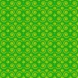 Il modello senza cuciture si sviluppa a spirale verde Fotografie Stock