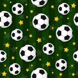 Il modello senza cuciture sul tema di calcio Immagini Stock