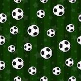 Il modello senza cuciture sul tema di calcio Fotografie Stock