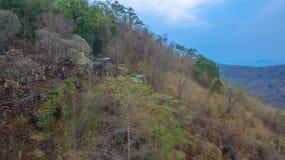 il modo al tempio è sulla cresta è alto e ripido Fotografia Stock