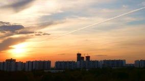 Il modo al tramonto fotografia stock