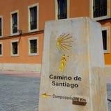Il modo della pietra di St James firma dentro Leon 306 chilometri Fotografia Stock Libera da Diritti