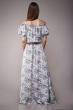 Il modo di bellezza copre il modello casuale della donna della raccolta castana Immagini Stock Libere da Diritti