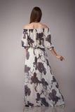 Il modo di bellezza copre il modello casuale della donna della raccolta castana Fotografia Stock Libera da Diritti