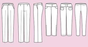 Pantaloni per la donna illustrazione vettoriale