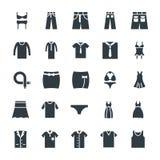 Il modo ed i vestiti raffreddano le icone 7 di vettore illustrazione vettoriale