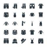 Il modo ed i vestiti raffreddano le icone 8 di vettore Fotografie Stock Libere da Diritti
