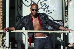 Il modo maschio di stile di vita del African-American environmen Fotografia Stock Libera da Diritti