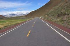 Il modo nel Tibet Fotografie Stock