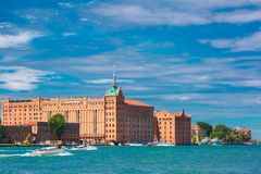 Il Molino Stucky on Giudecca, Venice, Italia Stock Photos