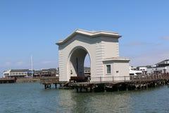 Il molo del pescatore è una vicinanza e un'attrazione turistica popolare a San Francisco, la California Immagine Stock
