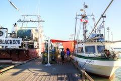 Il molo del pescatore al villaggio di Steveston a Richmond, BC immagine stock