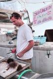 Il molo del pescatore al villaggio di Steveston a Richmond, BC immagini stock libere da diritti