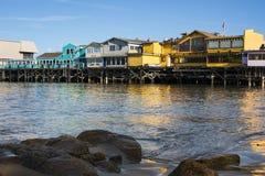 Il molo del pescatore anziano, Monterey, California Fotografie Stock
