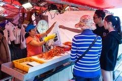 Il molo del pescatore di Steveston a Richmond, BC Immagine Stock